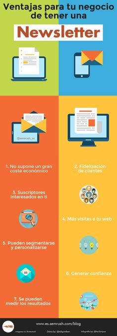 Ventajas de una Newsletter para tu Empresa #infografia #infographic #marketing