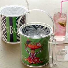 Personalized iomoi acrylic ice buckets. LV Monkey or Coakley Cay pattern. Great gift for the new couple. $88 each.    neimanmarcus.com