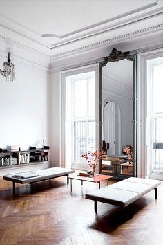 huge floor to ceiling mirror