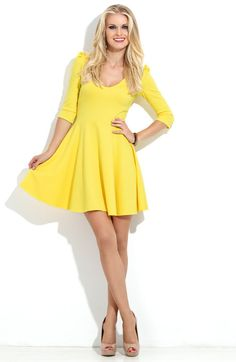 Hey, I found this really awesome Etsy listing at https://www.etsy.com/listing/200444410/yellow-mini-dress-jersey-dress-wedding