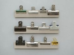 Present & Correct, Strips of Clips, silver clips, brass clips, assorted clips