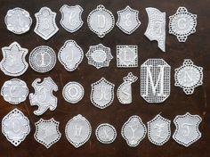 embroidered monogram set