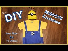 Easy DIY Minion Costume - Less than $4 To Make! - Great Last Minute Hall...