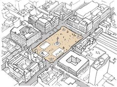 Thesis investigation - George Square Glasgow by @aidenmoore  #ArchiSketcher