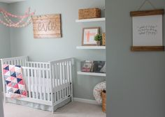 Fun modern nursery that would look gorgeous with Caden Lane's Felicity's Floral baby bedding