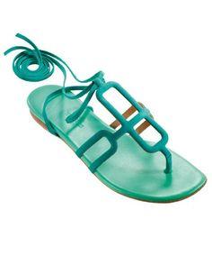 Hermes flat sandals #acquamarine #shoes #spring
