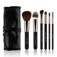 HFUN 6 Piece Black Make up Brush Set Foundation Eyeliner Blush Contour Brushes with Cosmetic Case (Black) >>> Unbelievable  item right here! : Make up lipstick