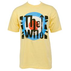 This men's slim yellow tee features The Who's 'London Flag' design on the front. London Flag, Yellow Tees, Flag Design, Love T Shirt, Slim Man, Mens Tops, Shirts, Shopping, Store