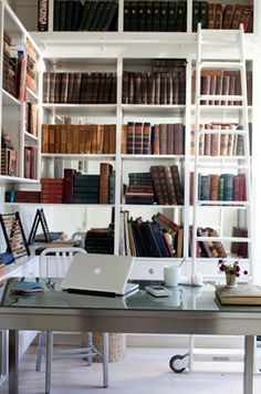I want a library room for my home