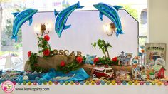 Mesa dulce con la temática de surf - Surf themed Sweet table