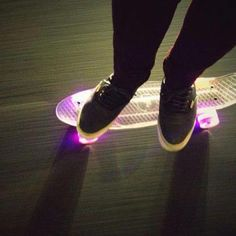 Glowing pennyboard!