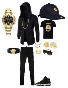 What you doing after this by tikitress on Polyvore featuring Moschino, Dsquared2, Rolex, Salvatore Ferragamo, Versace, David Yurman, NIKE, men's fashion and menswear