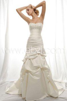 chapel train satin wedding dress | ... Trumpet/Mermaid Strapless Sweetheart Chapel Train Satin Wedding Dress