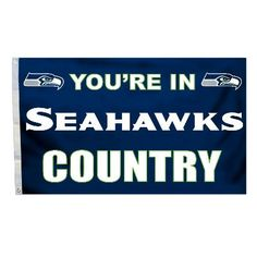 This Seattle Fan Flag lets visitors know they are In Seahawks Country