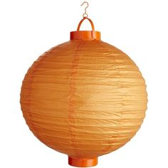Pier 1 Imports Orange Paper Lantern (39.800 IDR) ❤ liked on Polyvore featuring home, home decor, candles & candleholders, orange home decor, colored lanterns, orange lantern, orange home accessories and orange paper lanterns