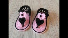 Sandalias para niñas tejidas a crochet