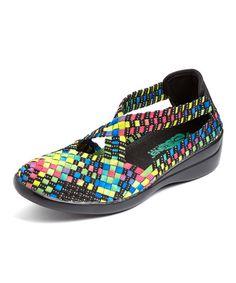 Another great find on #zulily! Black Rainbow Piscata Slip-On Shoe #zulilyfinds