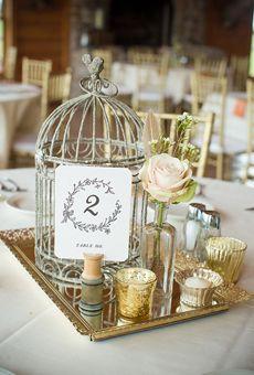 Simple Floral Wedding Centerpieces: Vintage Birdcage