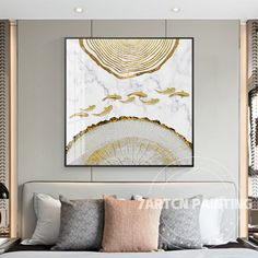 Acrylic Canvas, Abstract Canvas, Wall Art Sets, Wall Art Decor, Gold Leaf Art, Fish Wall Art, Homemade Art, Wall Art Pictures, Large Painting