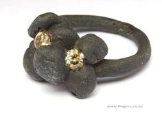 Karl Fritsch:  Oxidised silver, diamond,  2007