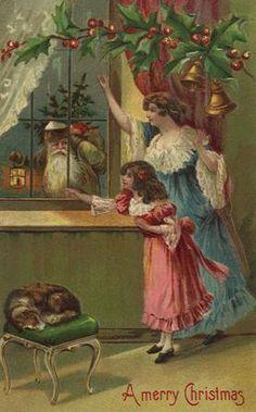 vintagepostcard.quenalbertini2: Christmas Card   foromanualidades.facilisimo.com/foros/decoupage/laminas-antiguas-3-ideas-y-trabajos-terminados_511472_630.html