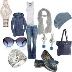 Casual Blues ~ perfect for a day of running errands or shopping with the girls.