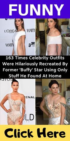 163 Times Celebrity Outfits Were Hilariously Recreated By Former 'Buffy' Star Using Only Stuff He Found At Home Purple Carpet, Funny Laugh, Hilarious, Celebrity Outfits, Show Photos, Gal Gadot, Celebs, Celebrities, Buffy