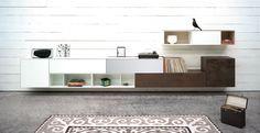 Spectral Ameno TV-Möbel braun, weiß & grau in Wohnlandschaft bei Funkhaus Küchenmeister. Mehr Infos jederzeit auf unserer Website.