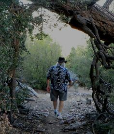 Hiking Big Bear Lake's Couger Crest Trail with my friend Bob Conner. The views of the lake from about 700 feet, surprises around many a turn and the exhileration of making it to the where the trail ends at the Pacific Crest Trail make the approx 1500 foot climb worth it. Bring plenty water, and if not acclimated to Big Bear's approximate 7,000 ft elevation, acclimate first on easier hikes. And yes, there's a reason it is named after mountain lions :-) I later camped here off the trail…