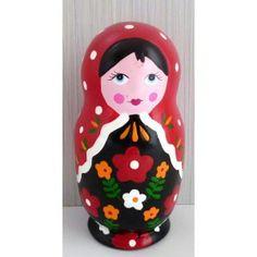 Money Box Babushka red small   #russiandoll #matryoshka #dollsindolls #decor #traditional #kids #toys #handmade