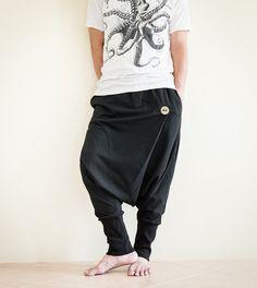 Minimalist Unisex Harem Pants Heavy Jersey by AmazingThaiStore b3ac36678e7b