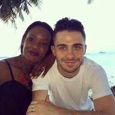 Beautiful interracial couple on vacation #love #wmbw #bwwm #swirl