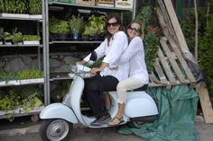 I couldn't resist this one. Me and C.Coulson during our shoot of My Amalfi Coast. That vespa!!!