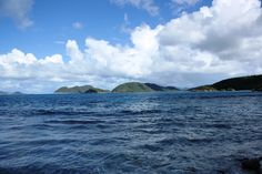 From Denis Bay: Jost Van Dyke, Great Thatch Cay, Whistling Cay, Mary's Point, a glimpse of Tortola, and Trunk Bay