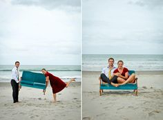 Emily and Jeremy's New Zealand Beach Engagement Shoot