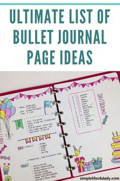 List of Bullet Journal Ideas: 101 Inspiring Concepts to Try Today (Part 1 Inspire your next BuJo entry with this ultimate list of bullet journal page ideas!Inspire your next BuJo entry with this ultimate list of bullet journal page ideas! List Of Bullet Journal Pages, Bullet Journal Contents, Bullet Journal Work, Bullet Journal For Beginners, Bullet Journal How To Start A, Bullet Journal Layout, Bullet Journal Inspiration, Bullet Journals, Mind Journal