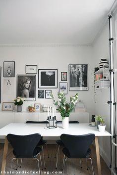Photo wall via that nordic feeling Raccoon poster by Silke Bonde
