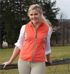 TEMPO EQUESTRIAN™ TARA™ TECH VEST This tech vest is ideal for keeping you warm and dry this spring. Tech material is stretchy with moisture wicking for added comfort. Features contrast details for added style in the saddle. Spicy Coral. Sizes: XS-XXL. DRC8248.  GREAT PRICE: $69.99 *PRICES VALID MAY 1st – AUGUST 31st, 2016