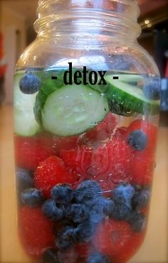 Detox - Purify your blood and body with this awesome vitamin water!  Detox is ideal for the morning after a night out or when you are cleansing.  Created with hydrating coconut water, and fresh cucumber, nutrient rich coconut meat, detoxifying milk thistle and anti-oxidant loaded raspberries and blueberries, this combination will cleanse your body from the inside out    Recipe: http://www.zainsaraswatijamal.com/site/recipes/zains-signature-vitamin-water-five-flavours/