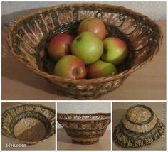 Поделка изделие Плетение Вазы для фруктов Бумага газетная фото 3