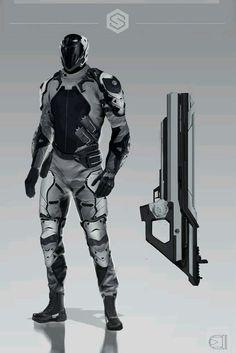 Sci Fi Rpg, Sci Fi Armor, High Fantasy, Sci Fi Fantasy, Armor Concept, Concept Art, Titan Armor, Cyberpunk Character, Cyberpunk Rpg