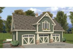751 square foot, ready-to-build garage plan from BuilderHousePlans.com