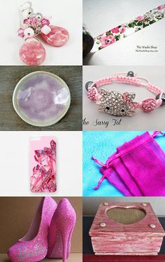 Pretty in Pink by Andrea M. on Etsy--Pinned with TreasuryPin.com