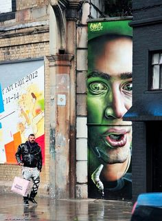 Artists: SmugOne & Thierry Noir in Shoreditch, London