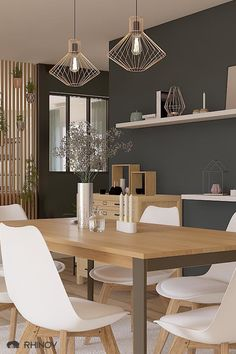 Scandinavian and industrial dining room - Esszimmer Home Decor Styles, Room, Interior, Dining, Dining Table, Industrial Dining, Room Decor, Dining Room Industrial, Dining Room