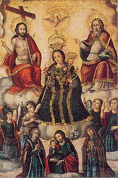 Virgen del Rosario Gaspar Miguel de Barrio My Favorite Image, Trinidad, Madonna, Saints, Colonial, Painting, Collection, Christianity, God