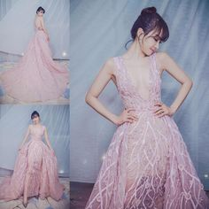 Victoria f(x) ~!  stunning pink Zuhair Murad dress |  See Instagram photos and videos from Victoria Song宋茜 (@victoria02_02)