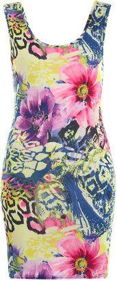 ShopStyle: Hawaian floral vest dress