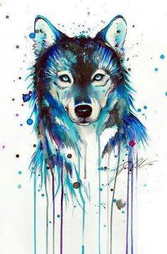 animaux, art, dessiné, dessin, dessins, autre, loup