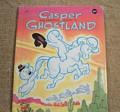 Casper the Friendly Ghost Children's Book VTG Picture Stort TV Cartoon Character